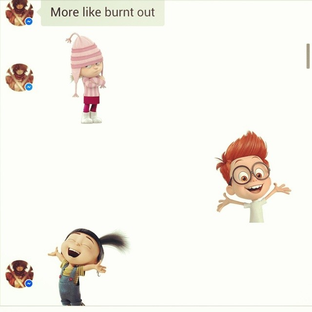 I love these stickers! They turn the mood of the conversation around just like that!!!! :D