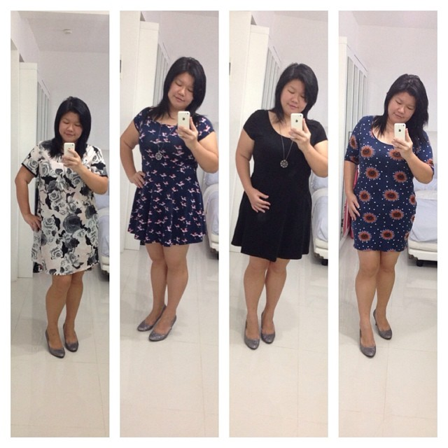 2nd 4 of 8 dresses that cost me less than SGD200 ^^v