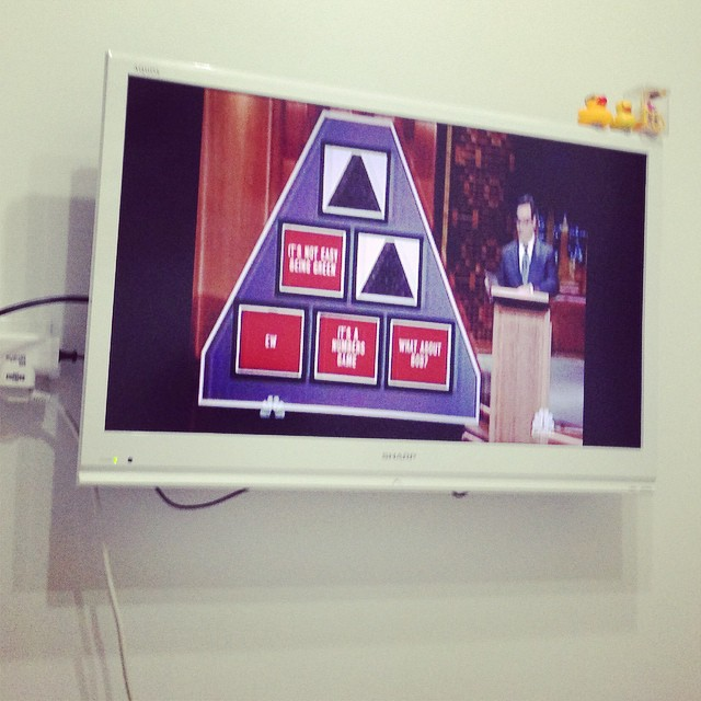 Pyramid Game on Jimmy Fallon. :D I know that game