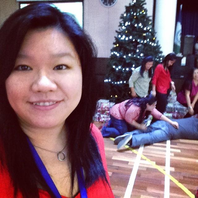 mandatory Christmas shot w crazy ppl & pine