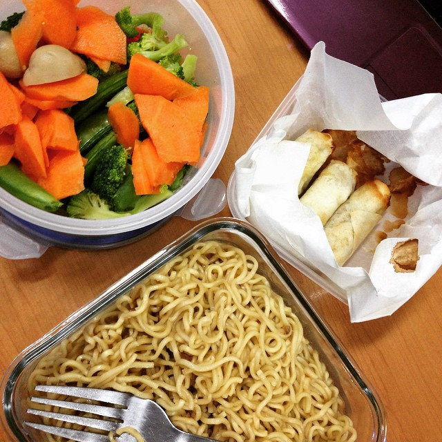 lunch by the lazy person..