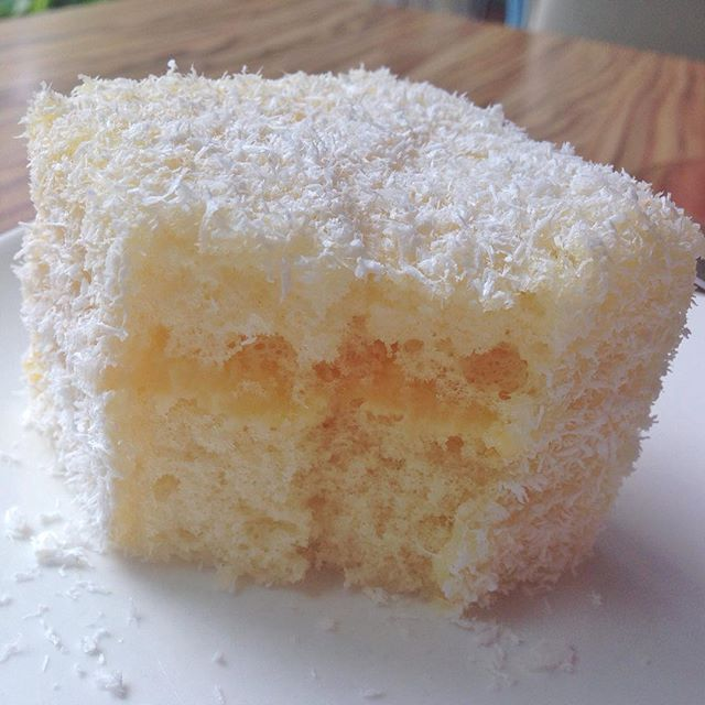 what witchcraft is this... this #Lemon #Lamington is so nice! @ Robert Timms Wheelock