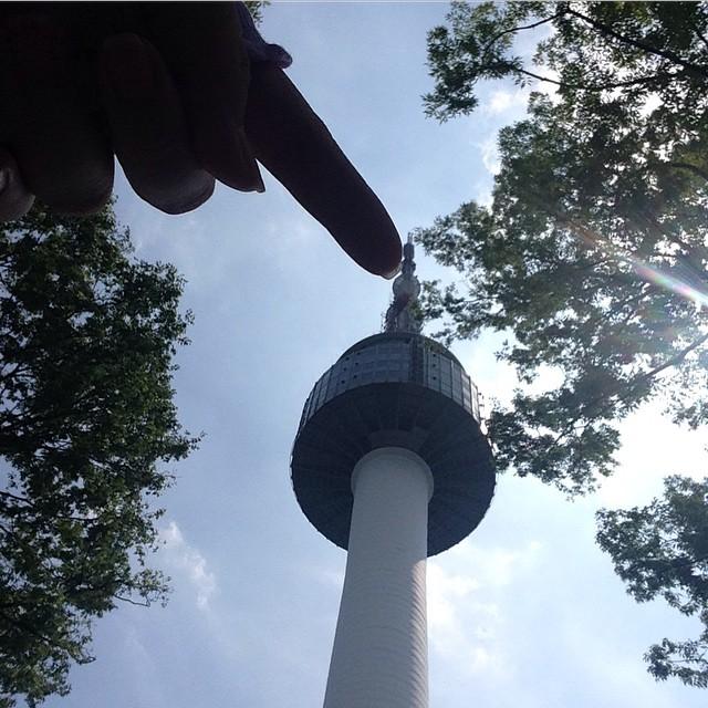 Poke the N Seoul Tower :D