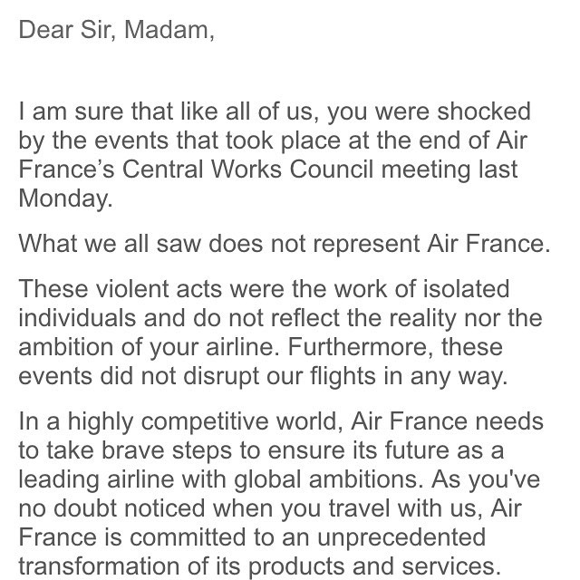 """""""In a highly competitive world, Air France needs to take brave steps to ensure its future as a leading airline with global ambitions. """" - seh...."""
