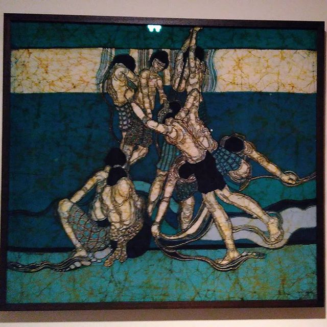 """Movement"" by Khalil Ibrahim Another Batik on cloth"