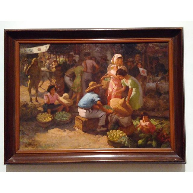 """Marketplace during the Occupation"" by Fernando Cueto Amorsolo What do you see?"
