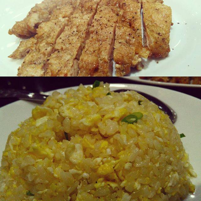 谁知盘中餐,粒粒皆辛苦。。Obviously I finished every grain of rice n slice of meat #dintaifung