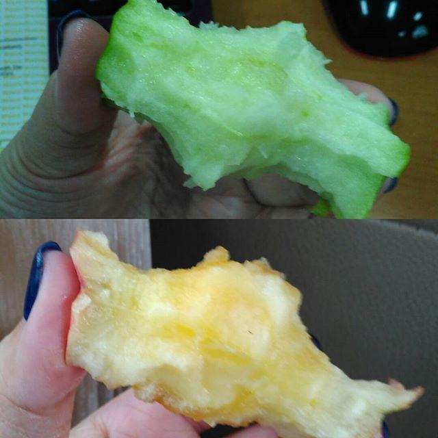 I chew uncut apples, because i can. :D