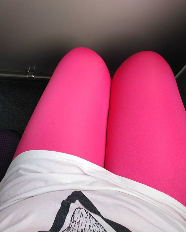 Me and my luminous pink sausage wrap, Bukit Timah Hill! Here I come!!!