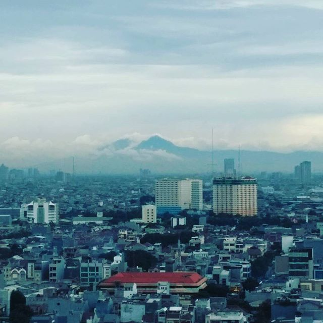 Indonesia's Mt Fuji scene.