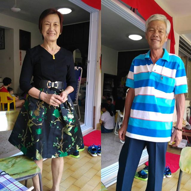 The mama and papa. :D #cnyootd2018  #cny2018
