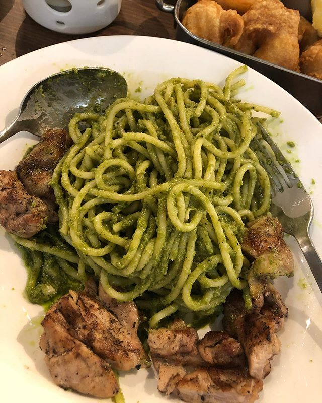 Pesto w Grilled Chicken after my almost 1.5 yrs hiatus from @bsteak_grill